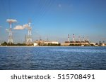 one of power station and high... | Shutterstock . vector #515708491