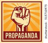 propaganda poster style... | Shutterstock .eps vector #515710975