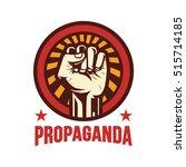 propaganda poster style... | Shutterstock .eps vector #515714185