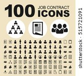 simple set of job contract... | Shutterstock .eps vector #515721091