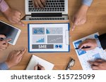 sme or small and medium sized... | Shutterstock . vector #515725099