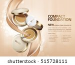 elegant compact foundation ads  ... | Shutterstock .eps vector #515728111