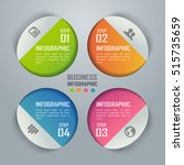 colorful business infographics... | Shutterstock .eps vector #515735659