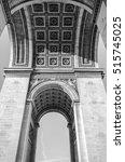 underneath the arc de triomphe...   Shutterstock . vector #515745025