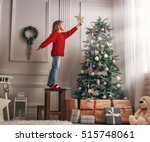 merry christmas and happy... | Shutterstock . vector #515748061
