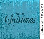 merry christmas. metallic...   Shutterstock .eps vector #515749411