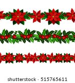 set of n seamless christmas... | Shutterstock .eps vector #515765611