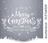 christmas and new year... | Shutterstock .eps vector #515768509