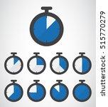stopwatch icon  vector... | Shutterstock .eps vector #515770279