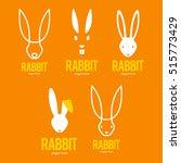 rabbit bunny logo icon symbol... | Shutterstock .eps vector #515773429