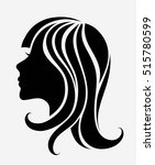 vector silhouette of a young... | Shutterstock .eps vector #515780599