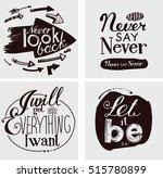 "letterings  ""i will get... | Shutterstock . vector #515780899"