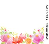 colorful watercolor flower... | Shutterstock . vector #515784199