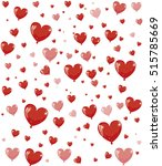 vector background with hearts | Shutterstock .eps vector #515785669