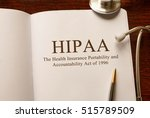 page with hipaa  the health... | Shutterstock . vector #515789509