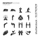 respect  reverence and... | Shutterstock .eps vector #515792929