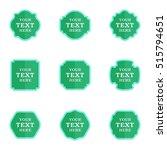 vector set blank vintage labels ... | Shutterstock .eps vector #515794651