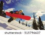 snowboarder jumping through air ... | Shutterstock . vector #515796637