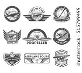airplane vintage isolated label ... | Shutterstock .eps vector #515799499