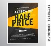 half price sale brochure flyer... | Shutterstock .eps vector #515801161