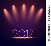 background of 2017 new year... | Shutterstock .eps vector #515802214