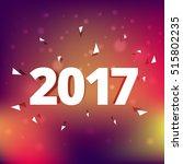 elegant 2017 text style effect... | Shutterstock .eps vector #515802235