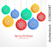 colorful hanging christmas... | Shutterstock .eps vector #515802487