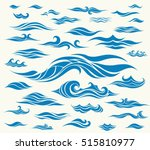 vector waves set of elements... | Shutterstock .eps vector #515810977