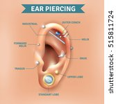 top different types of ear... | Shutterstock .eps vector #515811724