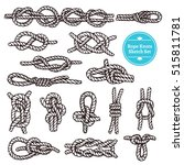 Rope Knots Sketch Set With...
