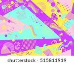 memphis seamless pattern.... | Shutterstock .eps vector #515811919