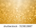 abstract gold glitter sparkle... | Shutterstock . vector #515813887