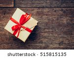 view above brown gift box and...   Shutterstock . vector #515815135