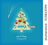 vector creative poster with... | Shutterstock .eps vector #515815594