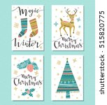 christmas set. template for... | Shutterstock .eps vector #515820775