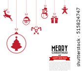 merry christmas and happy new... | Shutterstock .eps vector #515824747
