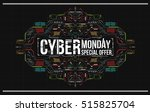 cyber monday background with...
