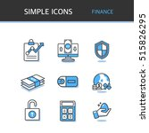 financial simple icon | Shutterstock .eps vector #515826295