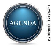 agenda icon. internet button on ... | Shutterstock . vector #515831845