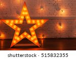 golden star with bulbs | Shutterstock . vector #515832355