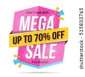 modern mega sale banner  don't... | Shutterstock .eps vector #515833765