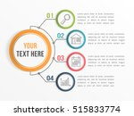 infographic template with four... | Shutterstock .eps vector #515833774