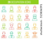 professions vector flat icons.... | Shutterstock .eps vector #515836591