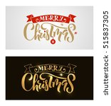 hand sketched christmas... | Shutterstock .eps vector #515837305