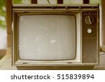 tv old vintage  black and white ... | Shutterstock . vector #515839894