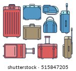 colorful flat travel bag icon... | Shutterstock .eps vector #515847205