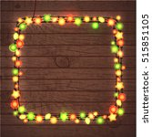 christmas and new year garland... | Shutterstock .eps vector #515851105