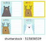 a set of cute notes cards with... | Shutterstock .eps vector #515858539