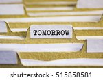 Stock photo tomorrow word on card index paper 515858581