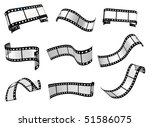 set of the realistic curl film... | Shutterstock . vector #51586075